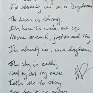 """In A Daydream"" Handwritten Lyrics by Marty Lloyd"