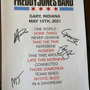 Autographed Set List from May 15, 2021